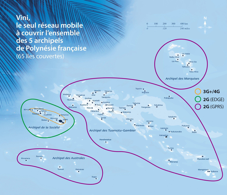 Carte Du Monde Tahiti.Couverture Reseau Vini
